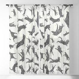 Shadow Cats Space Sheer Curtain