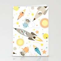 planet of the apes Stationery Cards featuring Apes in space by Heleen van Buul