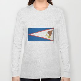 Flag of American Samoa. The slit in the paper with shadows. Long Sleeve T-shirt