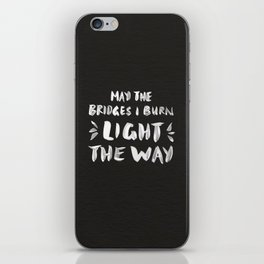 Burned Bridges – Black & White iPhone Skin