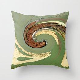 Swirl 05 - Colors of Rust / RostArt Throw Pillow