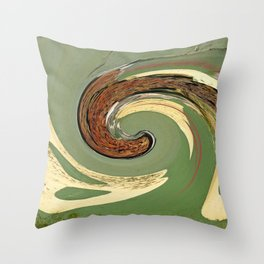 Swirl 05 - Colors of Rust / RostArt Throw Pillow
