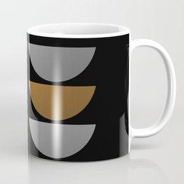 Tin Soldiers- Abstract, metallic textured, geometric, gold, silver, bronze artwork Coffee Mug