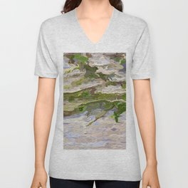 205 - abstract plant vine growing on wall Unisex V-Neck