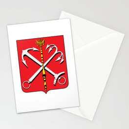 Historical Saint Petersburg Coat of Arms, 1730-1856 Stationery Cards
