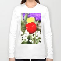 tulips Long Sleeve T-shirts featuring tulips by Falko Follert Art-FF77