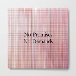 No Promises - Rozie Plaid Metal Print