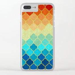 Golden geometric pattern XVII Clear iPhone Case