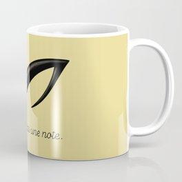 Ceci n'est pas une note Coffee Mug