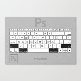 Photoshop Keyboard Shortcuts Brushed Metal Opt+Shift+Cmd Canvas Print