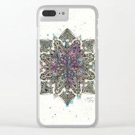 Zen Watercolor Mandala Full Clear iPhone Case