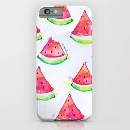 Watermelon Watercolor Print  iPhone Case
