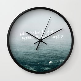 HELD THE OCEANS? Wall Clock
