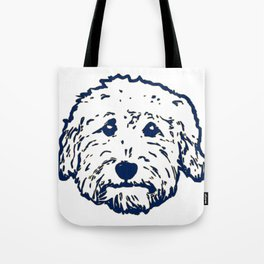 Goldendoodle dog face silhouette - perfect Golden doodle gift idea Tote Bag