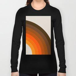 Retro Golden Rainbow - Right Side Long Sleeve T-shirt