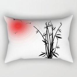 Bambus im Morgenrot Rectangular Pillow