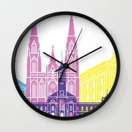 La Plata skyline pop Wall Clock