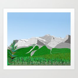 Miners Mountain Art Print