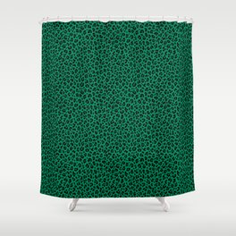 LEOPARD PRINT In GREEN Collection Leopard Spots Punk Rock Animal Print Shower Curtain