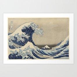 Under the Wave off Kanagawa, 1830/33 Art Print