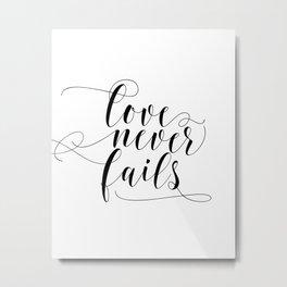 Bible Verse Wall Art, Wedding wall art sign,Calligraphy, Bridal Shower Sign, Love Metal Print