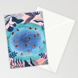 Emerald jungle pool Stationery Cards