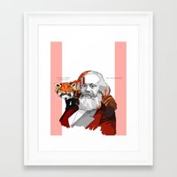 marx Framed Art Prints featuring Marx by Yeyotron