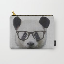 Panda with Nerd Glasses Carry-All Pouch