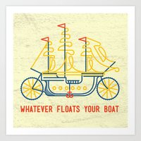 What Ever Floats Your Boat Art Print