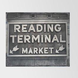 Reading Terminal Market Throw Blanket