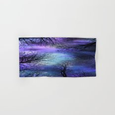 Black Trees Purple Blue Abstract Sky Hand & Bath Towel