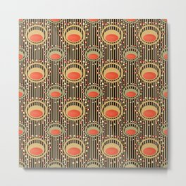 Abstract yellow and grey pattern . Metal Print