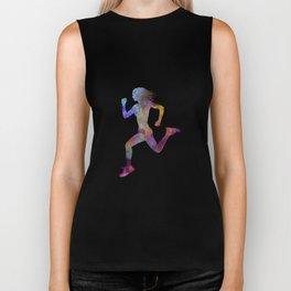 woman runner running jogger jogging silhouette 01 Biker Tank