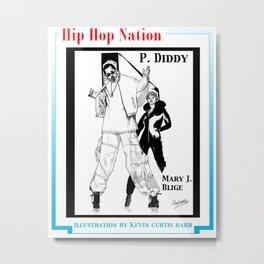 HIP HOP NATION Metal Print