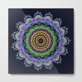 Fantasy crochet flower Metal Print