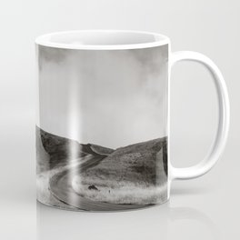 Black and White Winding Road on Mount Tamalpais Coffee Mug