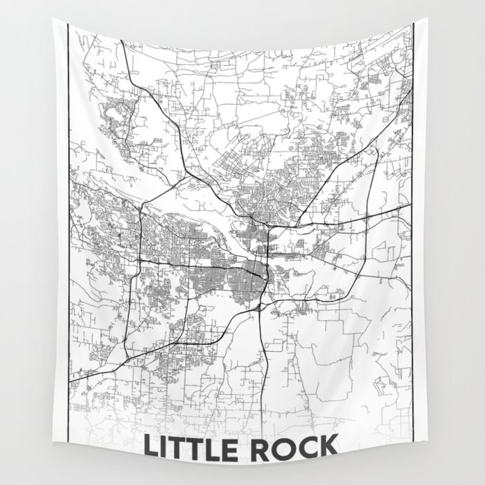 Minimal City Maps - Map Of Little Rock, Arkansas, United States Wall  Tapestry by valsymot