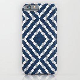 Loom in Navy Blue iPhone Case