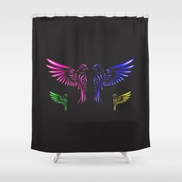 Glowing Birds Shower Curtain