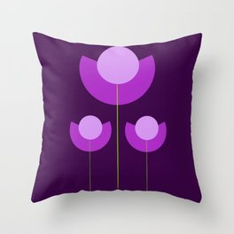 Abstract purple Tulips Throw Pillow