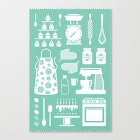 baking Canvas Prints featuring Baking Graphic by Modart Design