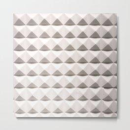 White Pyramids Metal Print