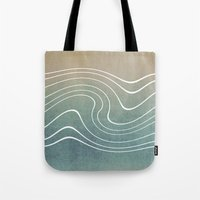 wave Tote Bags featuring Wave by Aelwen