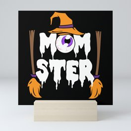 Halloween Horror Scary Witch Momster Mini Art Print