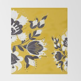 Floral honeyy Throw Blanket