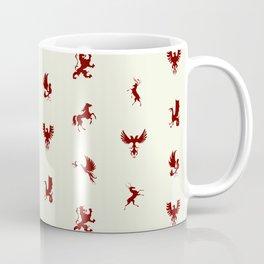 Heraldry Animal Emblems Pattern Coffee Mug