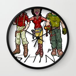 SHINY! Mal, Zoe, and Jayne...  The Larry, Moe, and Curly of space? Firefly and Serenity Wall Clock