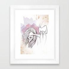 Faceless Fear Framed Art Print