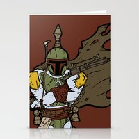 boba Stationery Cards featuring Boba Fett by Twisted Dredz
