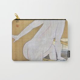 Kitagawa Utamaro - Top Quality Art - Bathing In Cold Water Carry-All Pouch